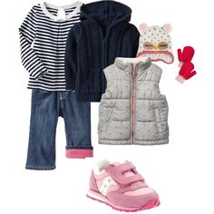 """""""Day at the Barn"""" Outfits for potty training are tough when you need real pants for hanging with horses. Here's hoping the pull-on style will work!"""