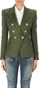 Double-Breasted Jacket-Green. This is a great style.