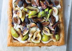 Lavender and Fig Tart with Goat Cheese Cream