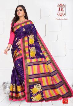 India, Printed Sarees, Catalog, Sari, Pure Products, Prints, Cotton, Fashion, Indian Outfits