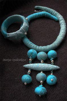 Felted jewelry set / Комплекты украшений ручной работы. Ярмарка Мастеров…