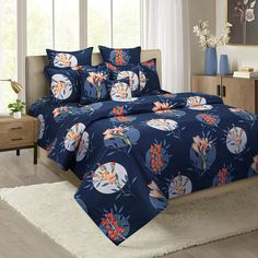 Buy this Lilies in the Dark Zinnia Bed in a Bag Set Online at the best prices.#bedsheetset #bedfittedsheets #beddingsetsonline #cottonbeddingsets #acbeddingsets #summerbeddingsets Bed Sheet Sets, Bed Sheets, Wooden Street, Cotton Bedding Sets, Bedding Sets Online, Bed In A Bag, Amazing Spaces, Street Furniture