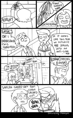 Destiel fanart by http://consulting-cannibal.tumblr.com/