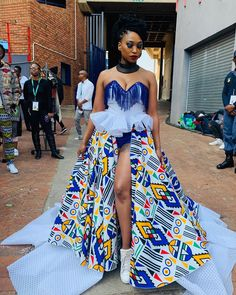 African Inspired Fashion, African Print Fashion, Fashion Prints, Funky Outfits, Stylish Outfits, African Dress, African Outfits, Strapless Dress Formal, Prom Dresses