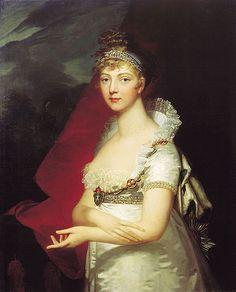 """Empress Elizabeth Alexejevna,"" by Jean Laurent Mosnier    1807"