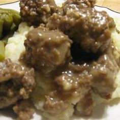 Sauerbraten Klopse (Sauerbraten Meatballs) Allrecipes.com  Interesting.  Might think of these for an Octoberfest party as an alternative to brots with beer.