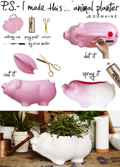 This little piggy went to the (flower) market! Bringing the...
