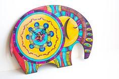 Elephant charm-Animal lover gift-Kids room decor by alnidecor