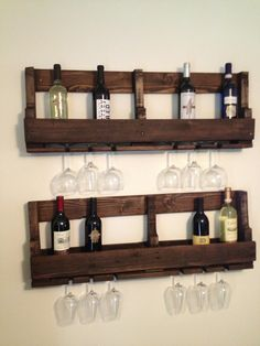 DIY pallet wine rack we made! Turned out great