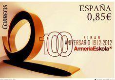 Sello e identidad para el Centenario de Armeria Eskola (Eibar) - Post stamp