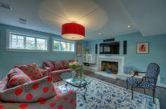Beautiful Blue Basement Ideas