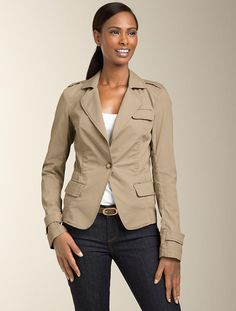 Talbot's Grace-Fit Twill Jacket on sale for $41.29 - a million percent off