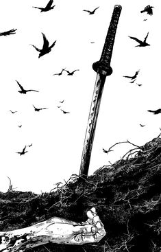 I'd praise abort. Manga Art, Anime Art, Vagabond Manga, Cool Pictures, Cool Photos, Samurai Artwork, Katana Swords, Anime Weapons, Samurai Tattoo