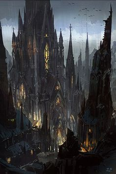 Gothic Castle by Zhou Peng / China http://www.zhoupengart.com/