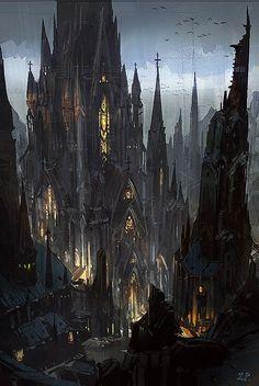 Gothic Castle by Zhou Peng / China http://www.zhoupengart.com/
