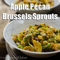Apple Pecan Brussels Sprouts (Paleo/Whole30, omit pecans for AIP)