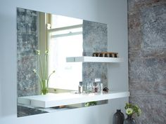 Gillmore Space Gerrit Landscape Mirror - Cleverly structured to incorporate shelves