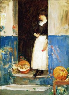 A Fruit Store - Childe Hassam