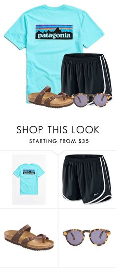 """""""Chilling like and ice cream cone"""" by flroasburn ❤ liked on Polyvore featuring Patagonia, NIKE, Birkenstock and Illesteva"""
