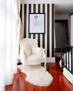 #interiordesign #blackandwhite #homedecor #stipes #diybazaar