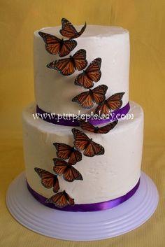 Edible Sincredible Butterflies  Monarch set of 12 by purplepielady, $8.00
