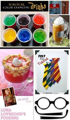 100+ Harry Potter Party Ideas        http://thedragonsfairytail.blogspot.com/2012/09/100-harry-potter-halloween-party-ideas.html