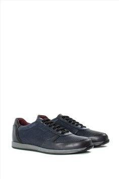 Ανδρικά Δερμάτινα Sneakers ZAKRO COLLECTION 9335 BLUE All Black Sneakers, Casual, Blue, Collection, Shoes, Fashion, Moda, Zapatos, Shoes Outlet