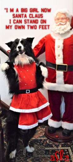 I'M A BIG GIRL NOW SANTA CLAUS I CAN STAND ON MY OWN TWO FEET