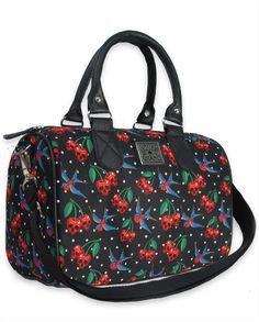 Liquor Brand Damen CHERRIES SKULLS Handtasche/Bags.Tattoo,Pin up,Biker Style