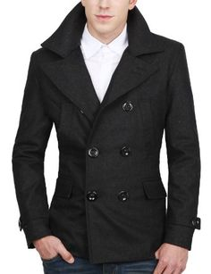 Mens Casual Double Wool Jacket - Fall/Winter