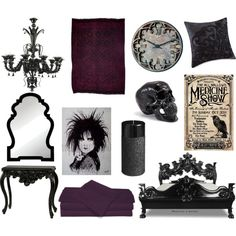 """Gothic Style Bedroom"" by pet387 on Polyvore"