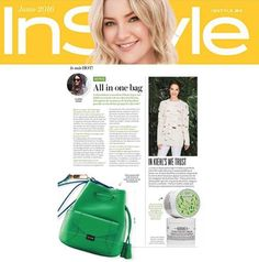 """Our June story came out!   'All In One Bag"""" featuring the Mini Stella Kiwi Bucket from the Riviera Collection   Thank you In Style Mexico!   Lo mas hot!   #YYMiniStella #YYRiviera #YYPress #YYMagazines #summer #bucket #kiwi #color"""