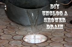 DIY Unclog a Shower Drain