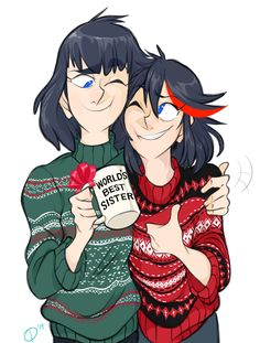 """rabiesvaccine: """" Our Very First Kiryuin Family Christmas! Storyboard Drawing, Kill A Kill, Satsuki Kiryuin, Watch Manga, Christmas Pictures, Family Christmas, Blue Exorcist, Warrior Cats, Character Drawing"""