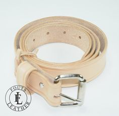 Handcrafted Natural Leather Belt 1.25 by FoutsLeather on Etsy, $45.95