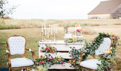 Vintage Outdoor Lounge from Ruby's Vintage Rentals and Aisle be With You! Get great lounge ideas and more on the Brides of Oklahoma Blog! #bridesofok Photo: Deisy Photography | Design + Styling: Asile Be With You | Floral: Tony Foss Flowers | Rentals: Ruby's Vintage Rentals | Cakes: Michelle Handy Cakes | Venue: McGranahan Barn #oklahoma #wedding #barn #lounge