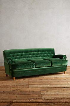 drool. Velvet Kimmeridge Sofa - anthropologie.com