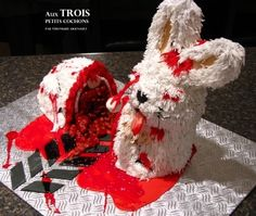 "Freaking hysterical. ""Trash"" the bunny By Veronique6339 on CakeCentral.com"