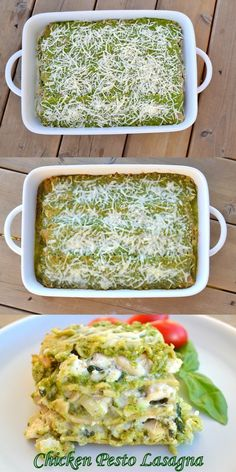 Chicken PESTO Lasagna...perfect use for our Basil!