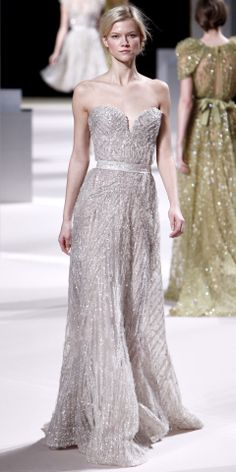 Elie Saab Sparkly Wedding Gown