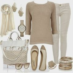Simple neutral outfit, yet very pretty :)
