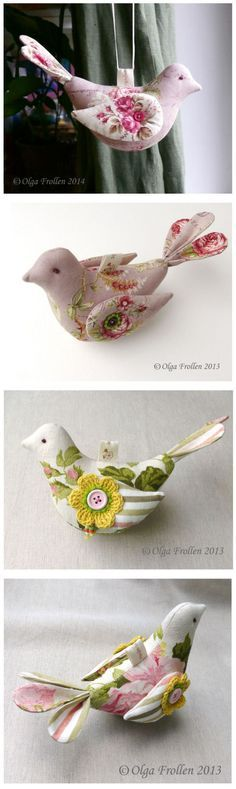 Beautiful fabric birds