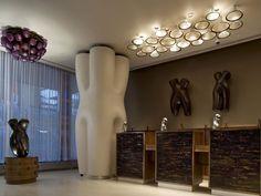Fixture above reception  Jordan Mozer and Associates, Ltd.
