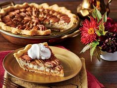Double-Decker Pecan Cheesecake Pie Recipe! This is a must do for Thanksgiving!!