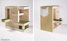 Casas para gatos diseños de arquitectos.
