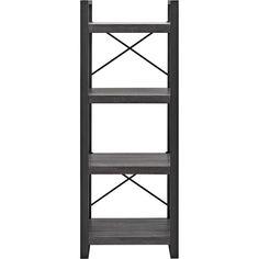 Walker Edison - angelo:Home City Grove Media Storage Tower - Charcoal (Grey)