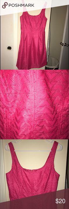 Nine West hot pink dress Nine West hop pink dress. Worn once. EUC. Smoke/pet free home. Size 8. Nine West Dresses Midi