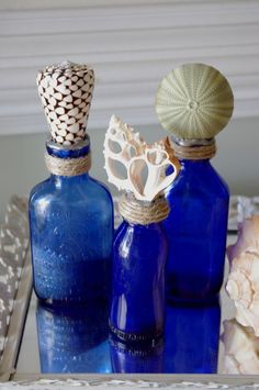 Cobalt Bottles HAVE ONLY FOUND A HANDFUL OF COLBALT SEAGLASS IN MY LIFETIME