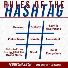 Hashtags are a great way to get your message in front of people actively looking for your topic – but you need to use them well.  Now, whether you're posting on Twitter, Instagram, Facebook, or Pinterest, hashtags are the way to keep your social media accounts happening. It is a clickable link to a group of posts using the same hashtag. Follow these hashtag rules and you'll be off to a great start!  #femmediaph #GoBeyondHorizon #DigitalMarketing #femmediacontentIdeas Business Sales, Make Sense, Your Message, Hashtags, Brand Names, Digital Marketing, Budgeting, Success, How To Get
