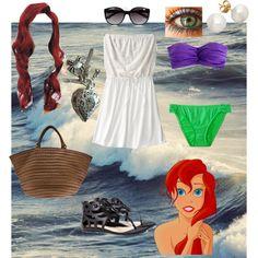 Ariel at the beach